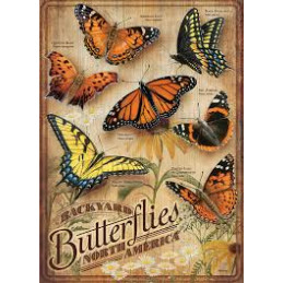 PUZZLE 500 PZ. - BACKYARD BUTTERFLIES