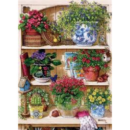 PUZZLE 500 PZ. - FLOWER CUPBOARD