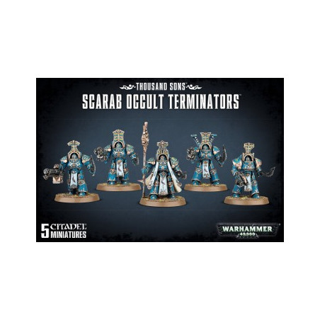 CHAOS SPACE MARINE THOUSAND SONS SCARAB OCCULT TERMINATORS