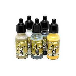 VALLEJO MODEL AIR COLOR 17 ML - CHROME YELLOW