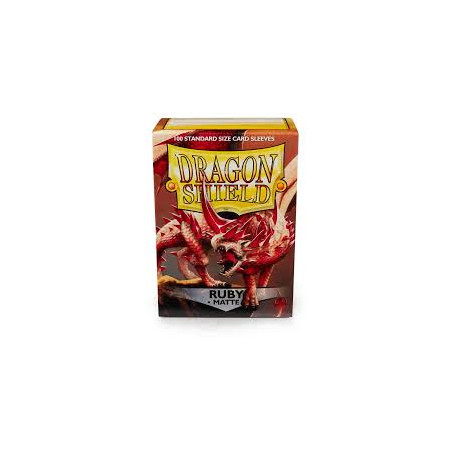 DRAGON SHIELD PROTEGGI CARTE STANDARD - MATTE RUBY (100)