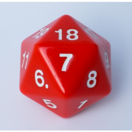 D20 ENORME 55MM OPACO - ROSSO/BIANCO