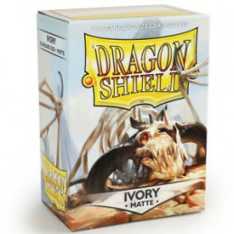 DRAGON SHIELD PROTEGGI CARTE STANDARD - MATTE IVORY (100)