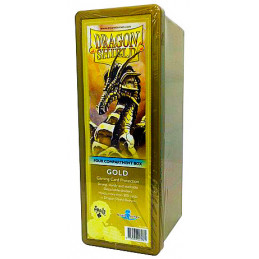 DRAGON SHIELD SCATOLA PORTA CARTE A 4 SCOMPARTI - GOLD (300)