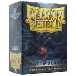 DRAGON SHIELD PROTEGGI CARTE STANDARD - MATTE BLACK (100)