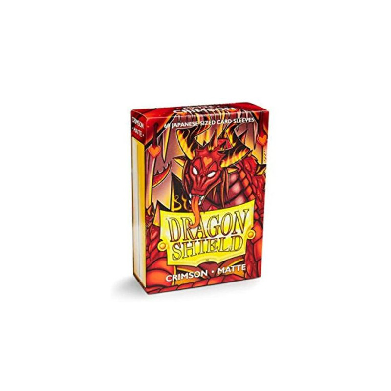 DRAGON SHIELD PROTEGGI CARTE STANDARD - MATTE CRIMSON (60)