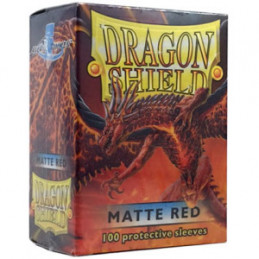 DRAGON SHIELD PROTEGGI CARTE STANDARD - MATTE RED (100)