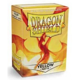 DRAGON SHIELD PROTEGGI CARTE STANDARD - MATTE YELLOW (100)