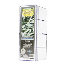 DRAGON SHIELD SCATOLA PORTA CARTE A 4 SCOMPARTI - CLEAR (300)