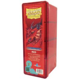 DRAGON SHIELD SCATOLA PORTA CARTE A 4 SCOMPARTI - RED (300)