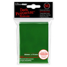PROTEGGI CARTE STANDARD MATRIX SOLID GREEN (50)