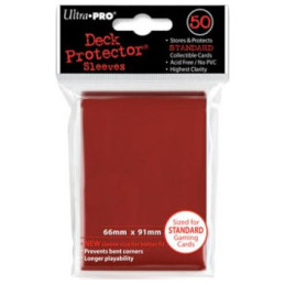 PROTEGGI CARTE STANDARD SOLID RED (50)