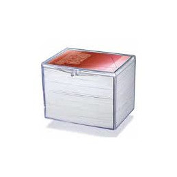 STORAGE BOX FOR 150 CARDS - CLEAR