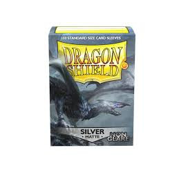 DRAGON SHIELD PROTEGGI CARTE STANDARD- NON GLARE - MATTE SILVER (100)