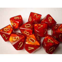 SET D10 SCARAB - ROSSO/ORO