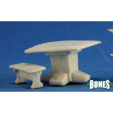 TABLE AND BENCHES (BONES)