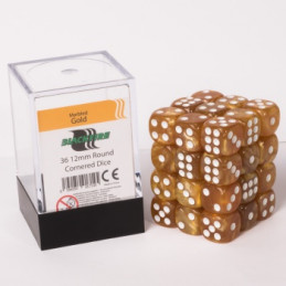 SET D6 SMALL MARBLED - ORO