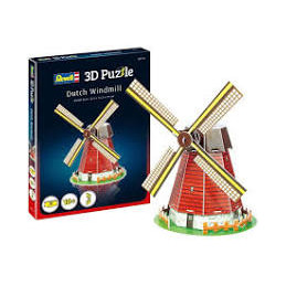 PUZZLE 3D 20 PZ. - DUTCH WINDMILL