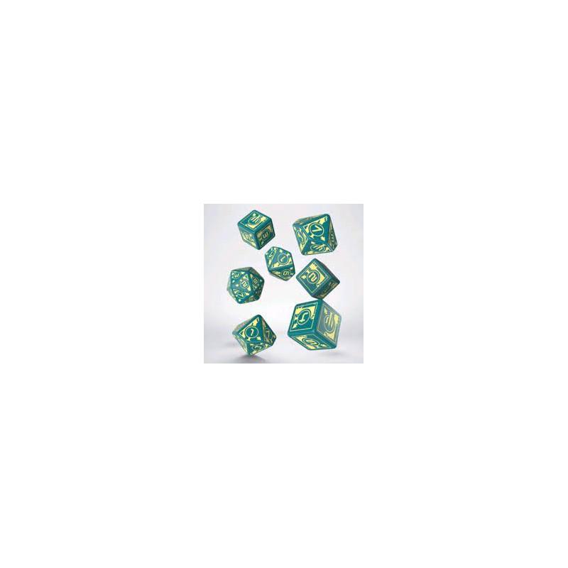 SET DADI POLARIS (3D6+3D10+1D20) - TURCHESE/GIALLO