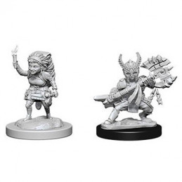 D&D NOLZUR\'S MARVELOUS MINIATURES - GUERRIERO HALFLING FEMMINA