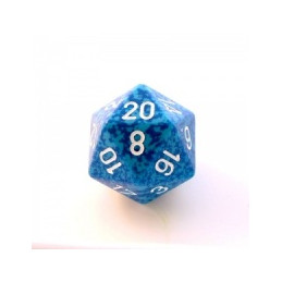 D20 GIGANTE 34MM SPECKLED - ACQUA