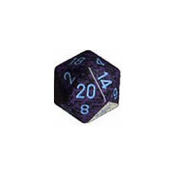 D20 GIGANTE 34MM SPECKLED - COBALTO