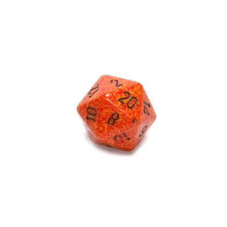 D20 GIGANTE 34MM SPECKLED - FUOCO