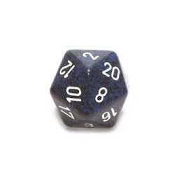 D20 GIGANTE 34MM SPECKLED - INVISIBILE