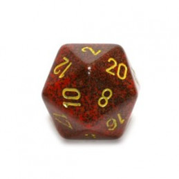 D20 GIGANTE 34MM SPECKLED - MERCURIO